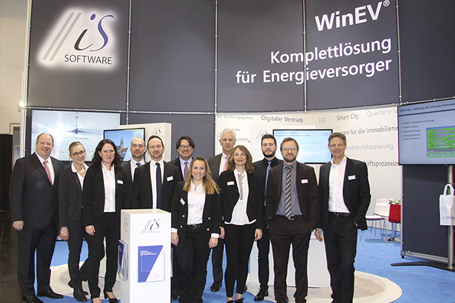 Das iS Software Team auf der E-world 2019